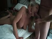 Playful mature bitch luvs the sensing of a firm dick in her mouth