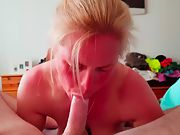Music blowage gal - 2nd video big titter sucks spunk pump till oral creampie