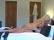 Young stud is fortunate to drill an incredible sexy big boobed first timer