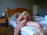 Busty mom takes care of her son's insane friend
