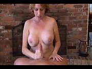 Immense boobed milf in exotic pov blowjob episode