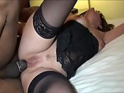 Big titty mummy takes a bbc in her mouth and booty