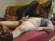 Busty mummy surprises a kinky stud while her hubby is away