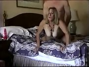 Enormous fun bags wife gets it from behind