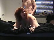 A busty wife getting it on and luving it cooch fingered then boinked