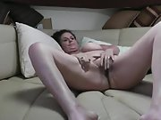Mature wife getting her boobs out and fucked in cabin on our boat