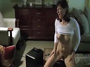 Watching my wife riding her fresh toy